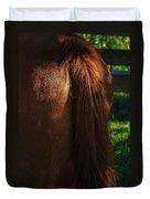 Amber Horse Tail Duvet Cover