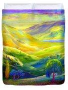 Wildflower Meadows, Amber Skies Duvet Cover