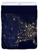 America At Night Duvet Cover