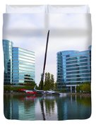 America Cup Winner Oracle Team Usa In Redwood City Ca Duvet Cover