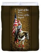 America -- Rodeo-style Duvet Cover