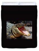 American Alligator Threat Display Duvet Cover