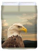 American Bald Eagle With Peircing Eyes Duvet Cover by Douglas Barnett