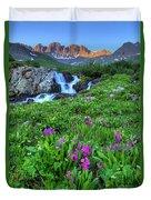 American  Basin Waterfall Duvet Cover
