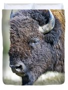 American Bison Closeup Duvet Cover