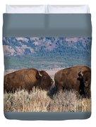 American Bison Trio Duvet Cover