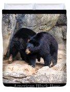 American Black Bear  Duvet Cover