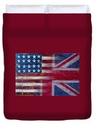 American British Flag Duvet Cover by Garry Gay