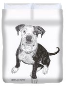 American Bull Dog As A Pup Duvet Cover