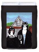 American Cat Gothic Duvet Cover