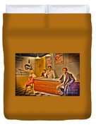 American Cinema Icons - 5 And Diner Duvet Cover