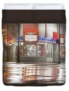American Coney In Detroit At Night Duvet Cover