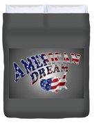 American Dream Digital Typography Artwork Duvet Cover