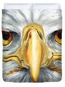 American Eagle - Bald Eagle By Betty Cummings Duvet Cover by Sharon Cummings