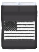 American Flag Charcoal Duvet Cover