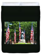 American Flag - Civil War Memorial -  Luther Fine Art Duvet Cover by Luther Fine Art