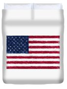 American Flag Embossed Duvet Cover