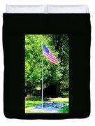 American Flag - Honoring John Duvet Cover