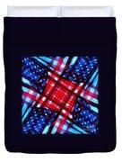 American Flag Kaleidoscope Duvet Cover