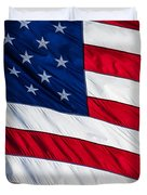 American Flag Duvet Cover by Leslie Banks