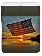 American Flag Sunset 14 2/18 Duvet Cover