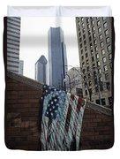 American Flag Tattered Duvet Cover