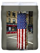 American Flag Tiles Duvet Cover