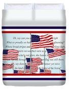 American Flag Tribute  Duvet Cover
