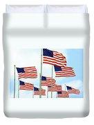 American Flags Duvet Cover