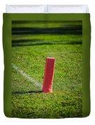 American Football Field Marker Duvet Cover
