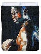 American Football Player Duvet Cover