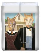 American Gothic Cat Duvet Cover