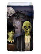 American Gothic Halloween Duvet Cover