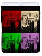 American Gothic In Quad Colors Duvet Cover