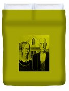American Gothic In Yellow Duvet Cover