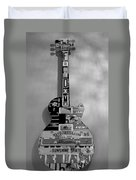 American Guitar In Black And White Duvet Cover