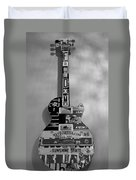 American Guitar In Black And White1 Duvet Cover
