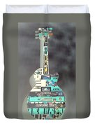 American Guitar In Neagtive Duvet Cover