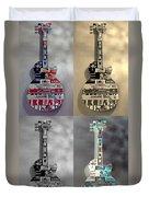 American Guitars  Duvet Cover
