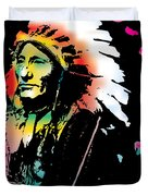 American Indian Silo Duvet Cover