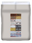 American License Plates Duvet Cover