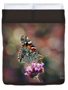 American Painted Lady Butterfly 2014 Duvet Cover