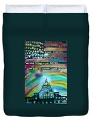 American Rainbow Duvet Cover