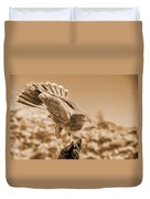 American Red Tail Hawk Duvet Cover
