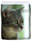 American Shorthair Cat Profile Duvet Cover