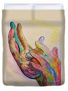American Sign Language Jesus Duvet Cover