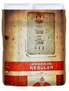 American Standard - Vintage Fuel Pump - Casper Wyoming Duvet Cover