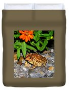 American Toad Duvet Cover