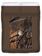 American Tree Sparrow Duvet Cover