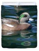 American Widgeon Duck Duvet Cover